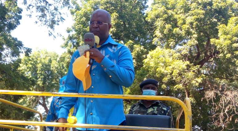 Muluzi in one of his campaign trip s in the region
