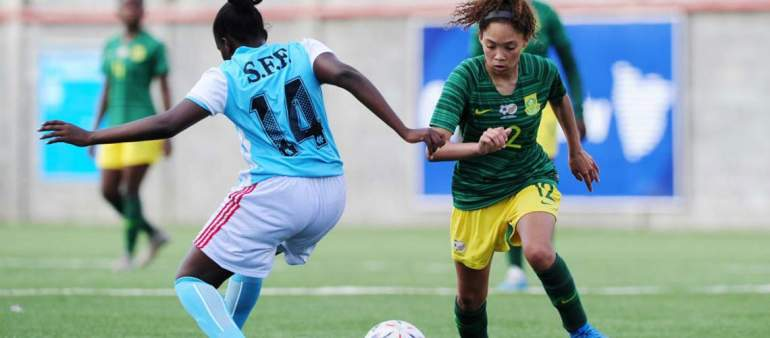 Part of the action during 2019 COSAFA Under 17 Womens Championship
