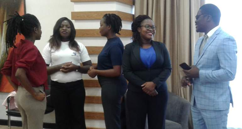 Ngwira with some of the women lawyers