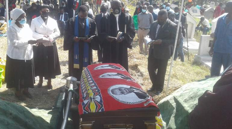 Burial ceremony at Chitawira cemetery in Blantyre