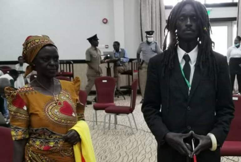 Ras Chikomeni and his mother upon arrival at the hotel