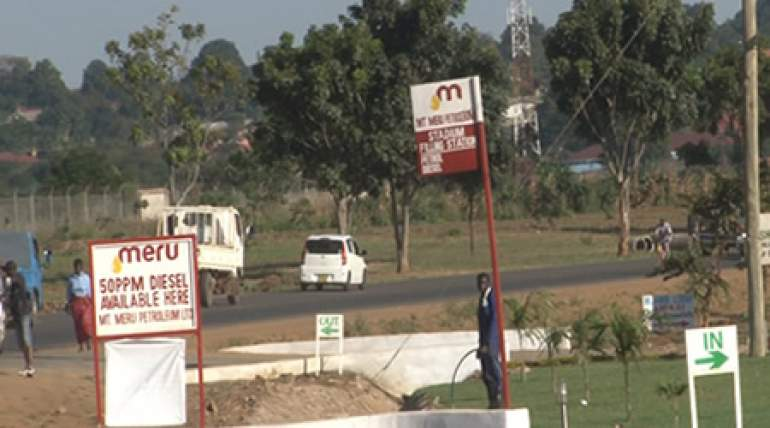 One of Mt. Meru filling stations in the country