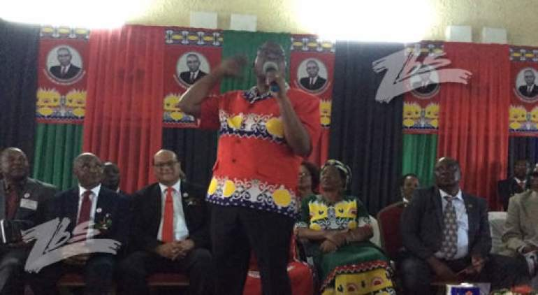 MCP President, Lazarus Chakwera, during the party's convention in 2018