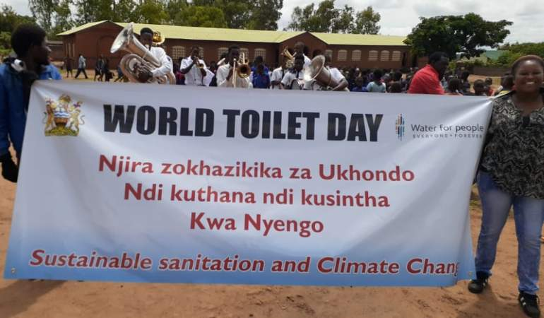 People are encouraged to use toilets to avoid diseases