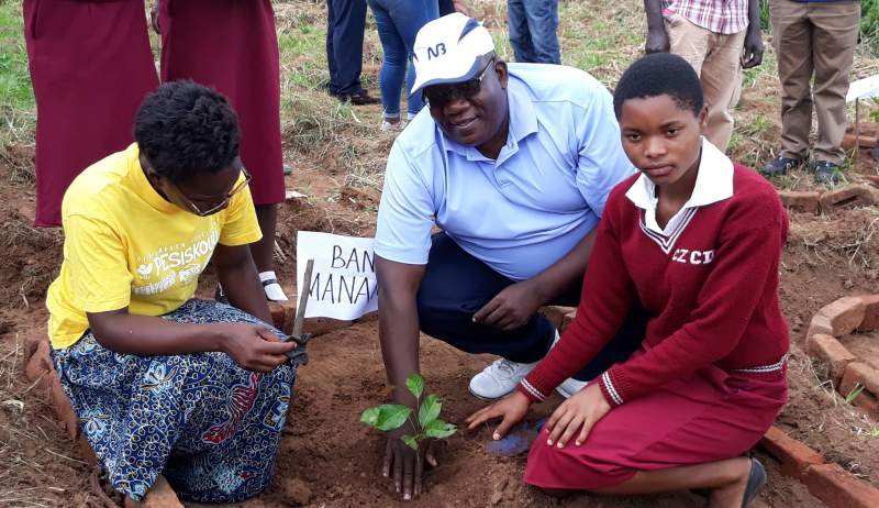 Siula taking a lead in the tree planting event