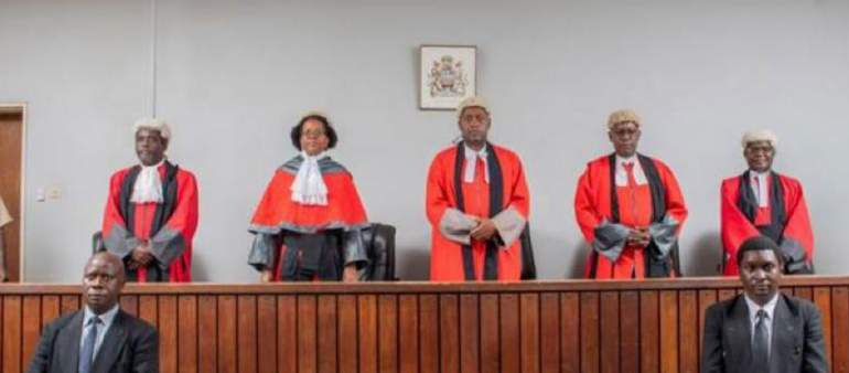 Five Malawi judges who tried the Presidential election case