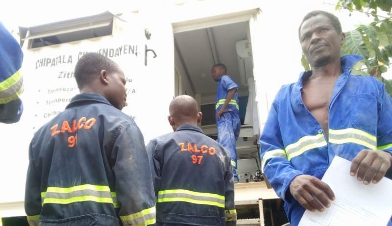 -  ZALCO employees being screened for TB at Zalewa in Neno