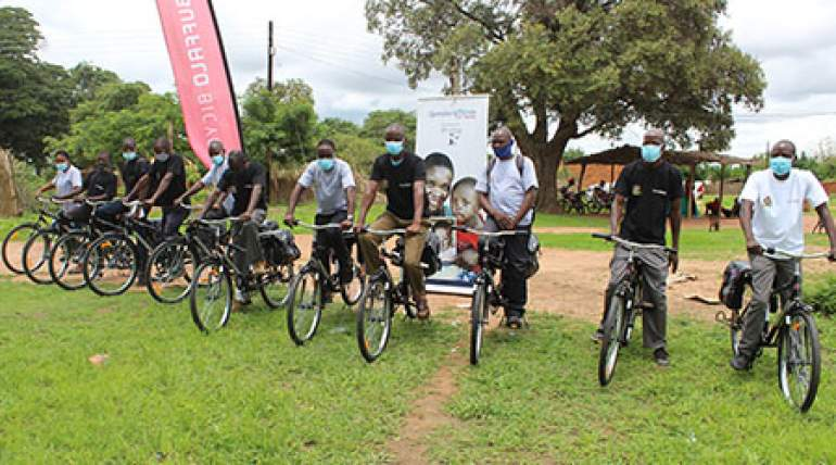 The volunteers say the bicycles will ease mobility challenges